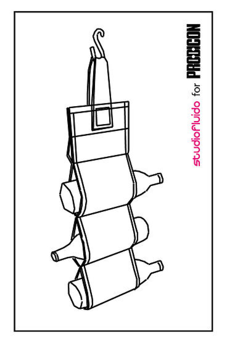 Studiofluido - Porta bottiglie per Prodicon