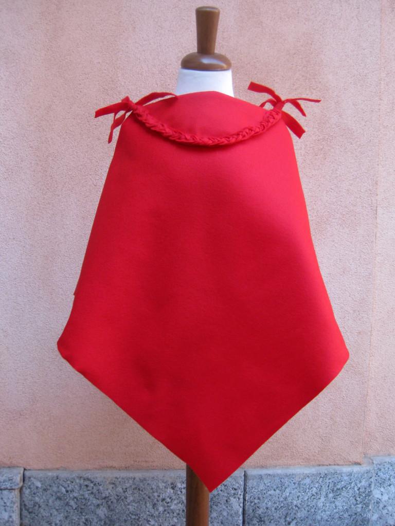 Studiofluido - Mantellina rossa con nastri