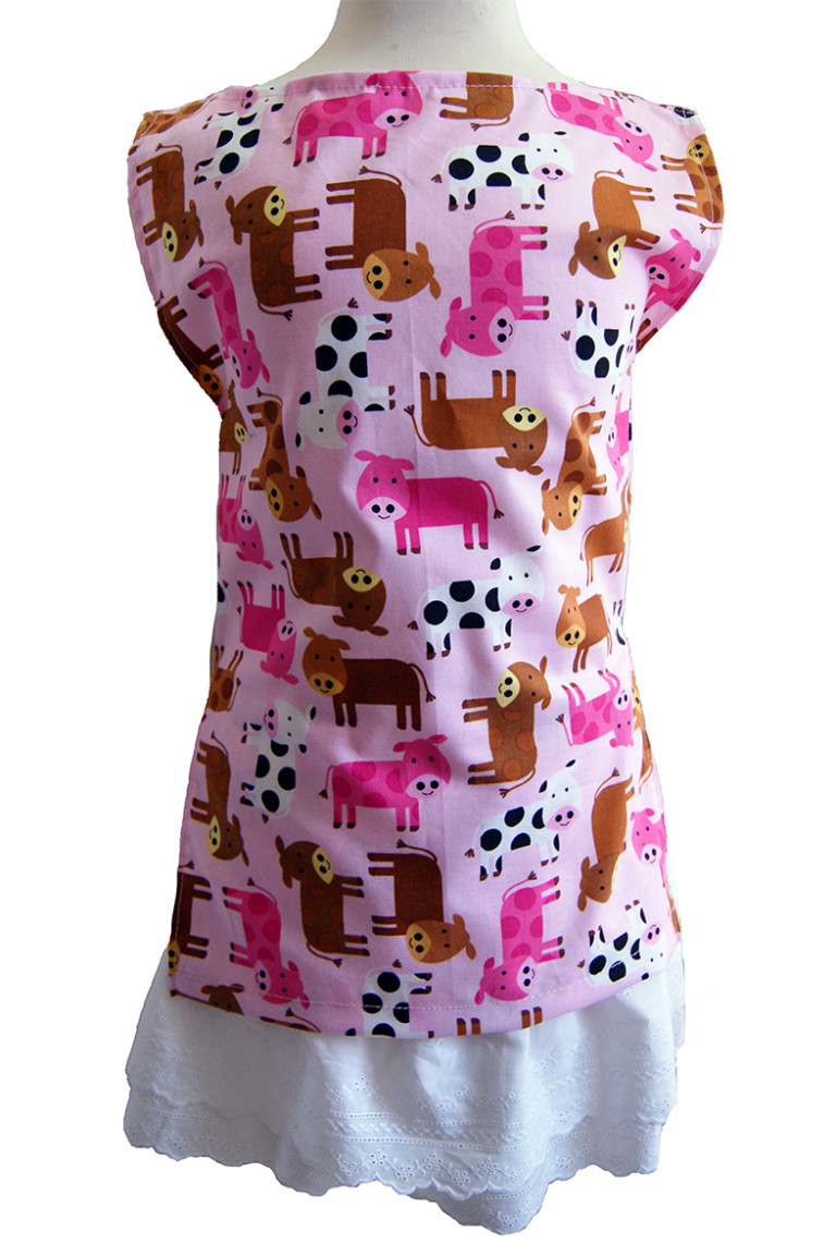 Studiofluido - Tshort rosa con animali per bambina