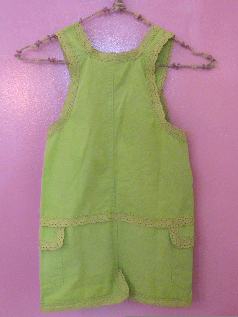Studiofluido - Salopette verde per bambina