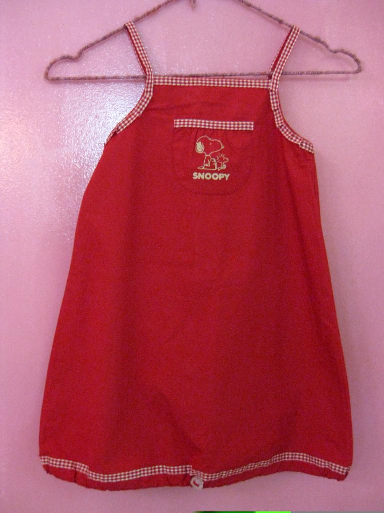 Studiofluido - Vestitino rosso per bambina, con Snoopy