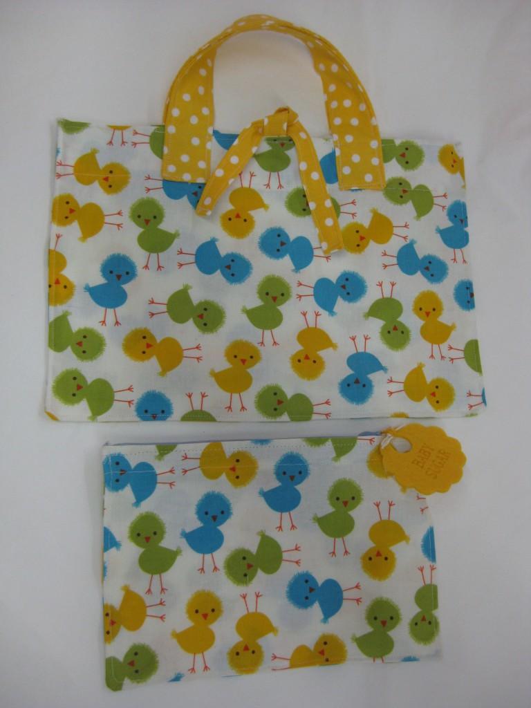 Studiofluido - Kit borsetta e bustina con pulcini colorati